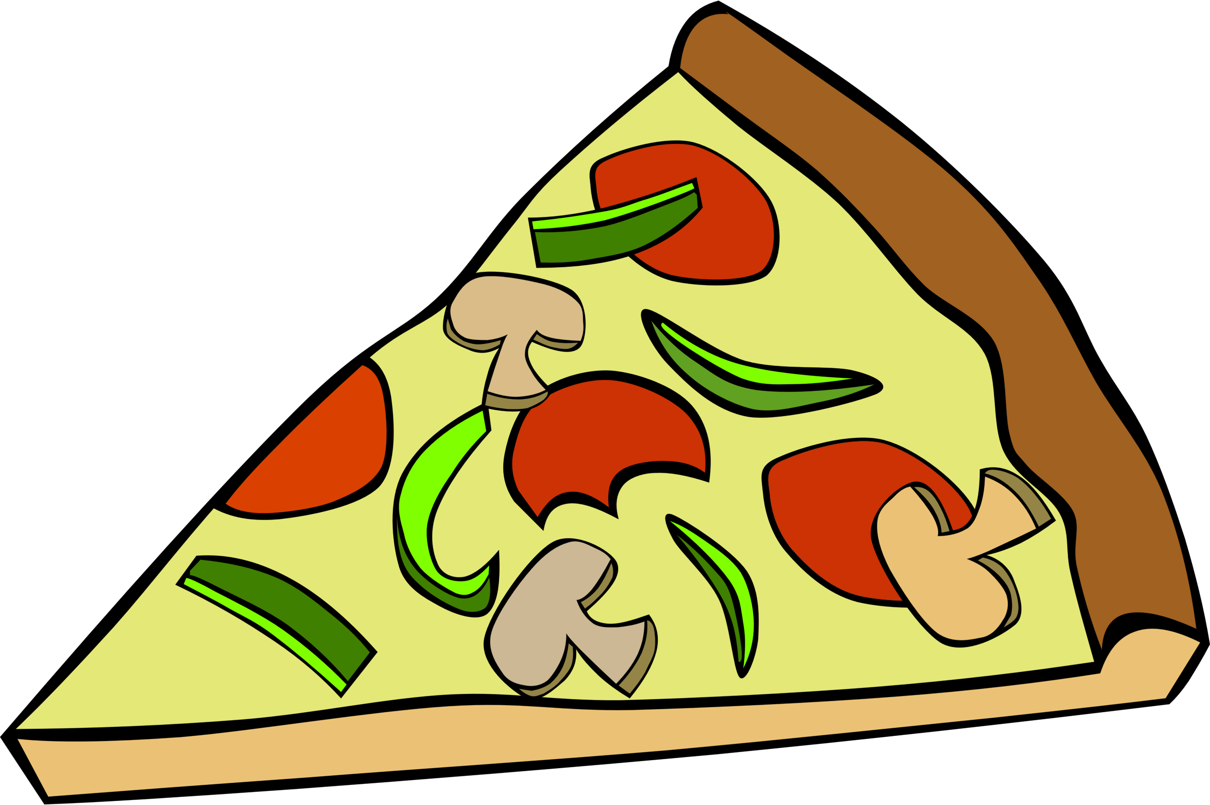 2400x1596 Pizza Clipart Junk Food