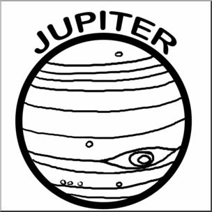 304x304 Clip Art Planets Jupiter Bampw I Abcteach