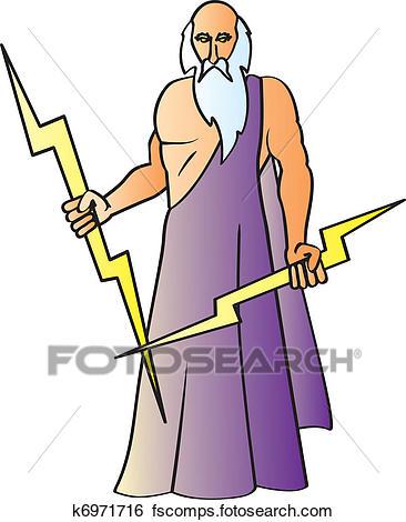 366x470 Clip Art Of Zeus K6971716