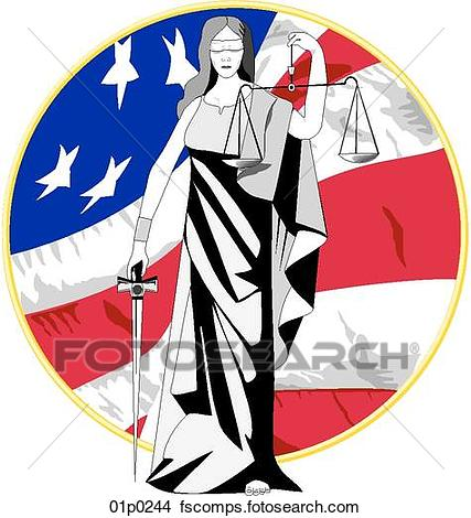 427x470 Clipart Of Lady Justice 01p0244