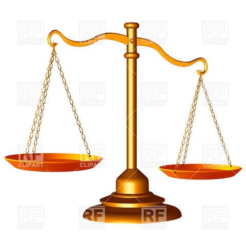 480x480 Golden Scales Of Justice Royalty Free Vector Clip Art Image
