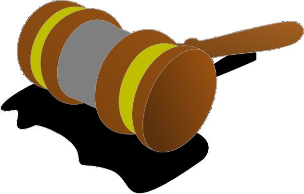600x382 Justice Gavel Color 2 Clip Art