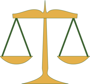 298x279 Scales Of Justice Clip Art