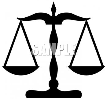 350x325 Scales Of Justice Clip Art