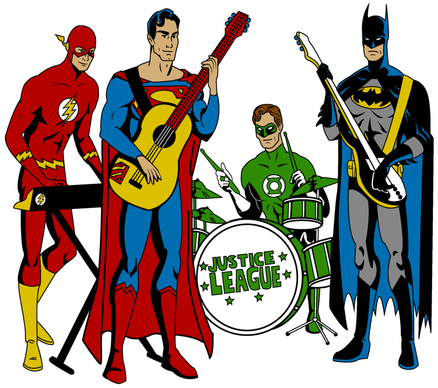 900x797 Justice League Band By Mbecks14