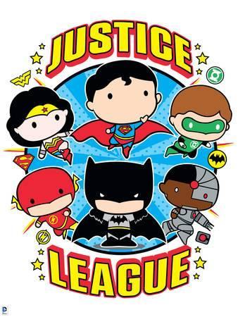 338x450 Justice League Chibi Design Poster