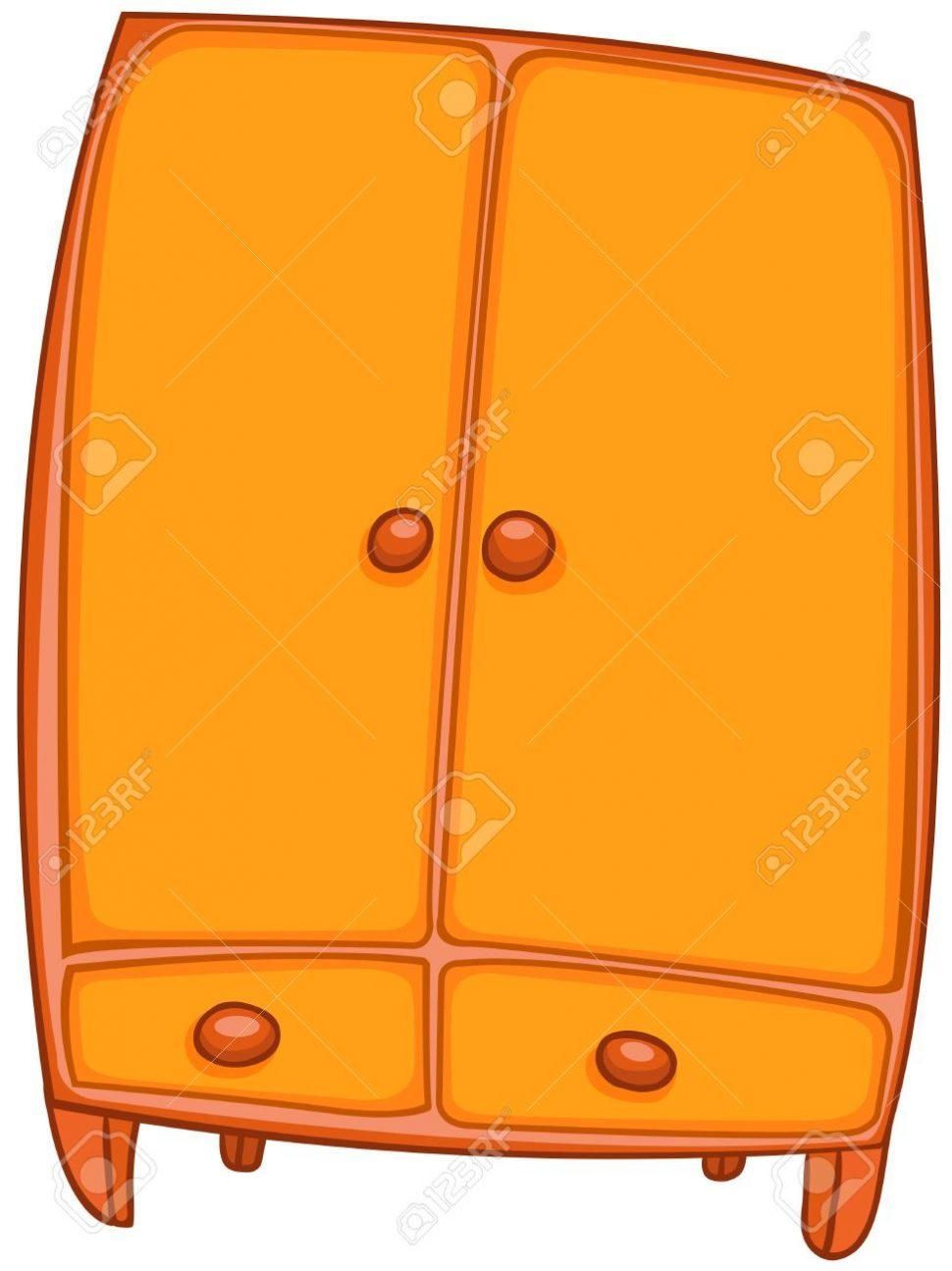 970x1295 Cartoon Home Furniture Wardrobe Stock Vector Closet Royalty Free