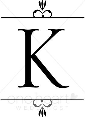 283x388 Wedding Monogram K Clipart Wedding Monograms