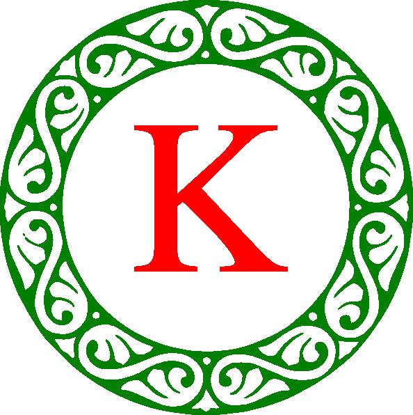 594x596 Letter K Monogram Clip Art