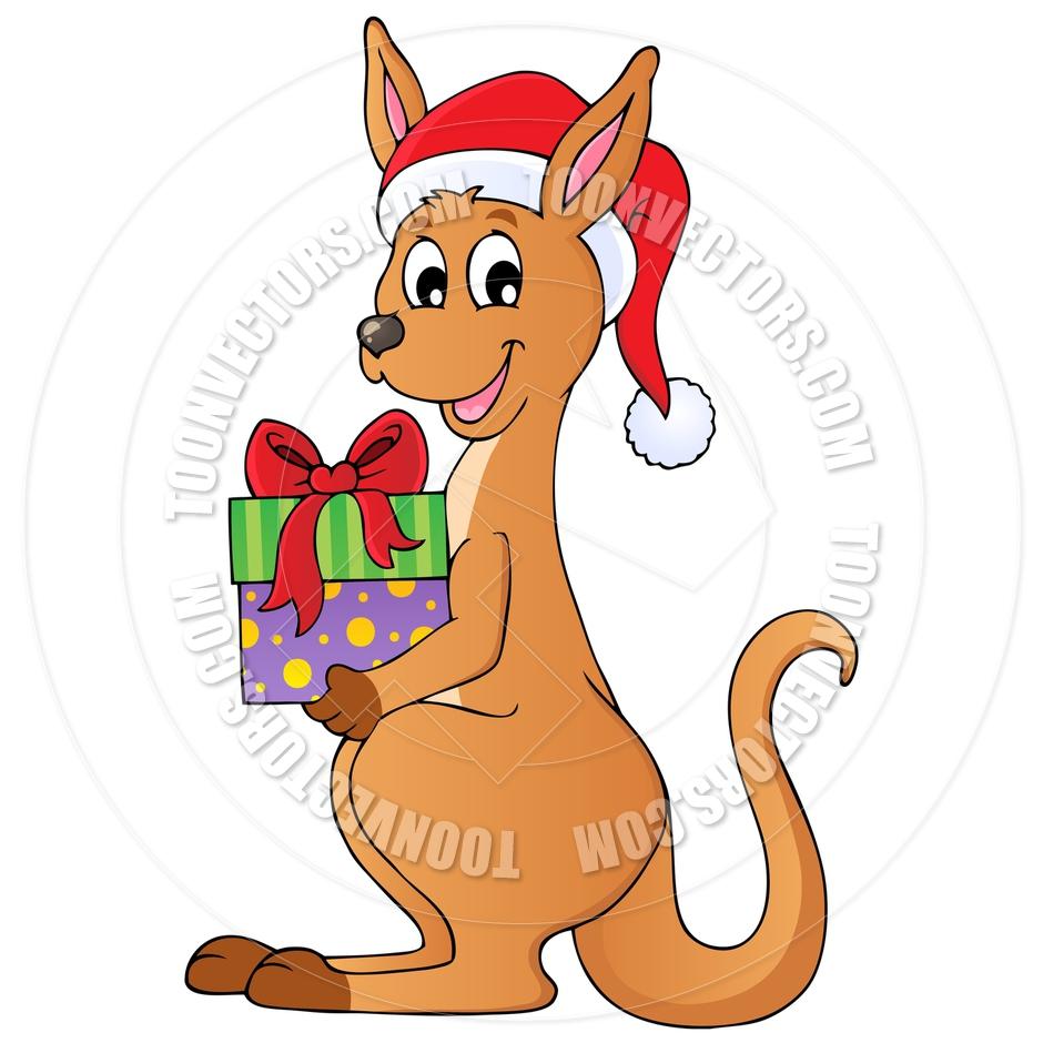 Kangaroo Christmas Clipart