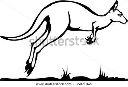 450x307 Kangaroo Hopping Clipart