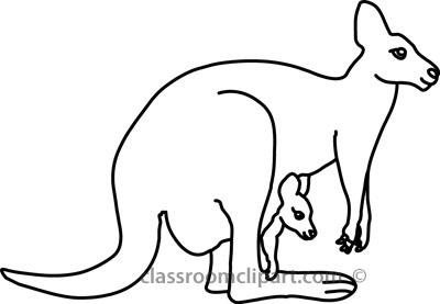 400x277 Kangaroo Outline Clipart