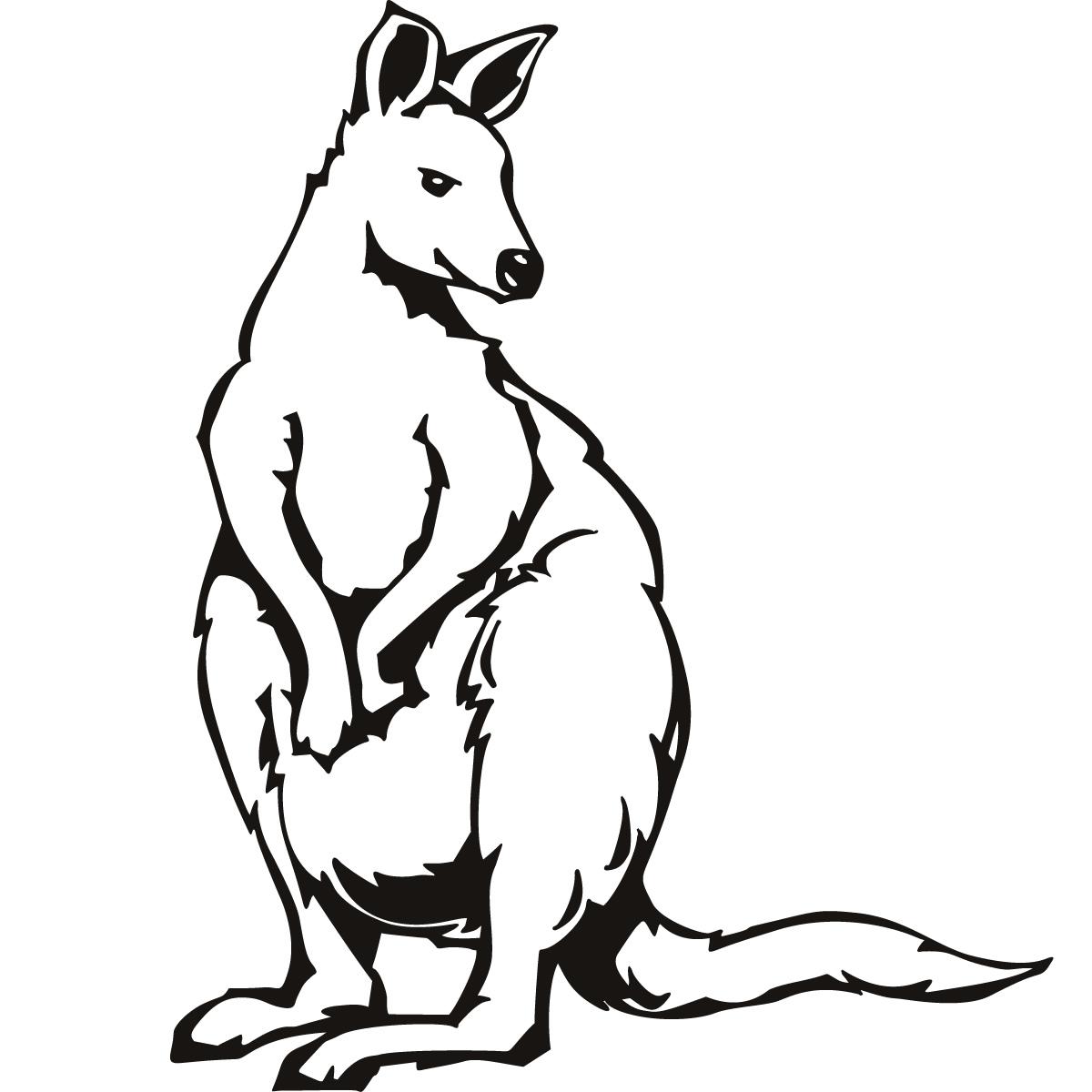 1200x1200 Kangaroo Outline Clipart