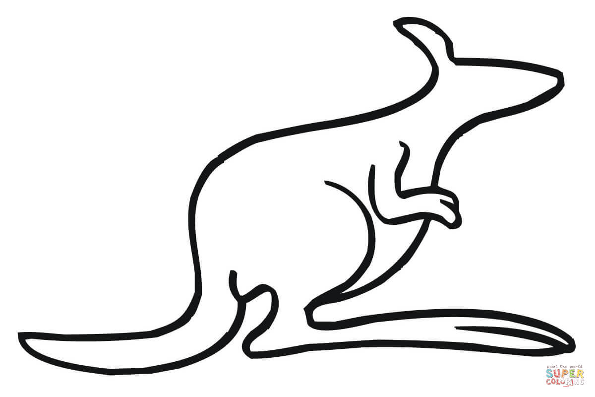 1200x800 Kangaroo Outline Coloring Page Free Printable Coloring Pages