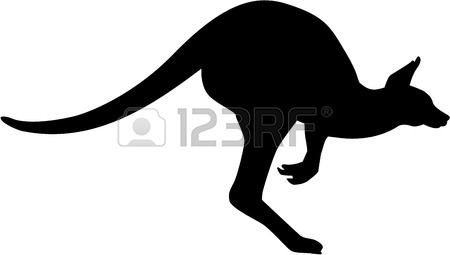450x255 Kangaroo Silhouette Outline Royalty Free Cliparts, Vectors,