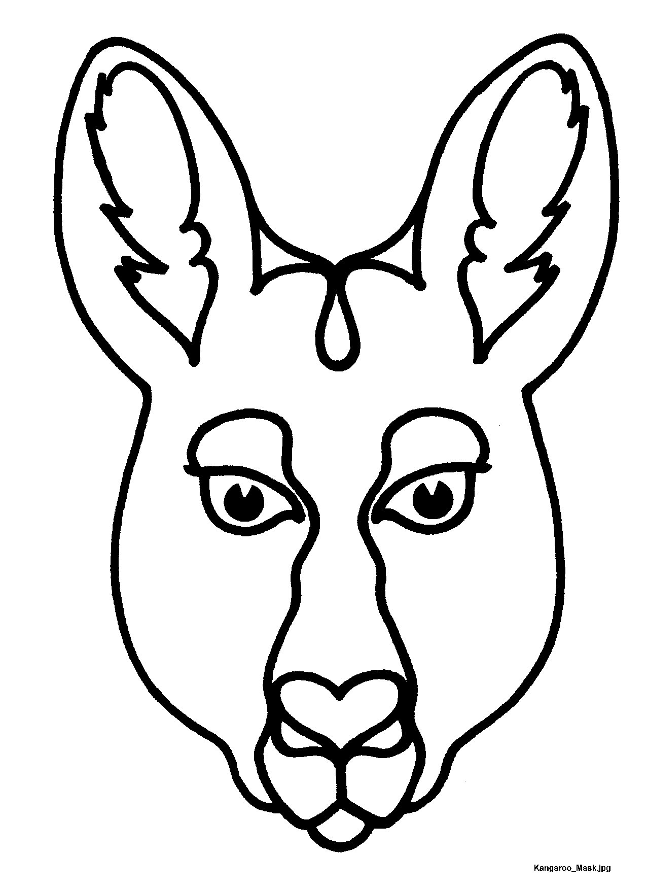 1276x1754 Kangaroo Clipart Mask