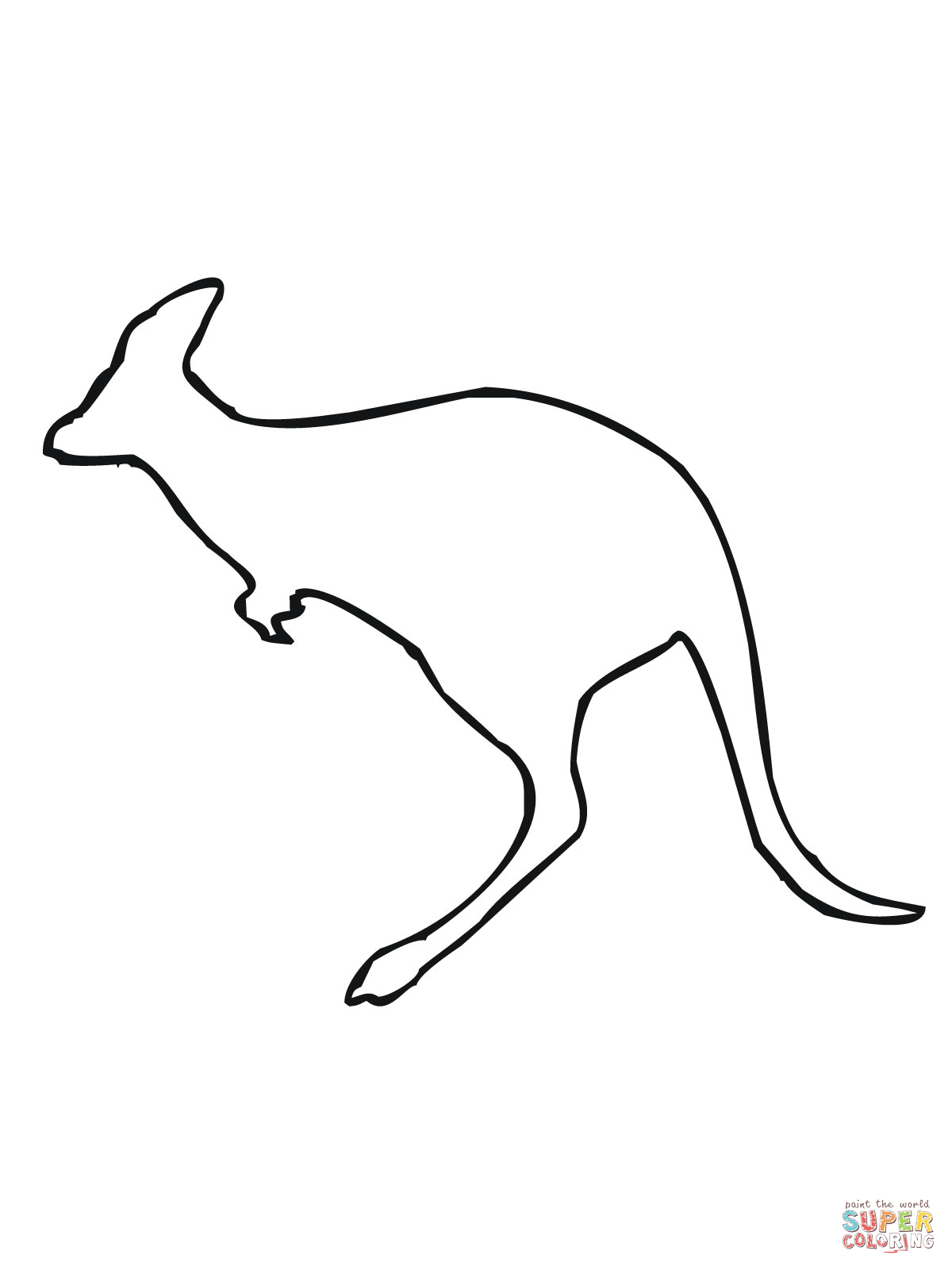 1200x1600 Leaping Kangaroo Outline Coloring Page Tats