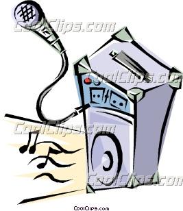 267x308 Karaoke Machine Clipart