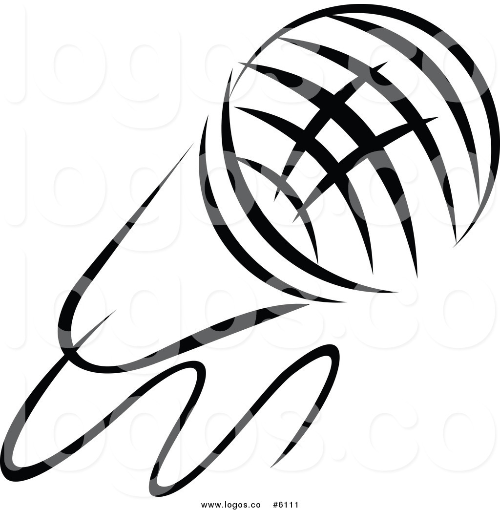 1024x1044 Royalty Free Clip Art Vector Logo Of A Black And White Singer