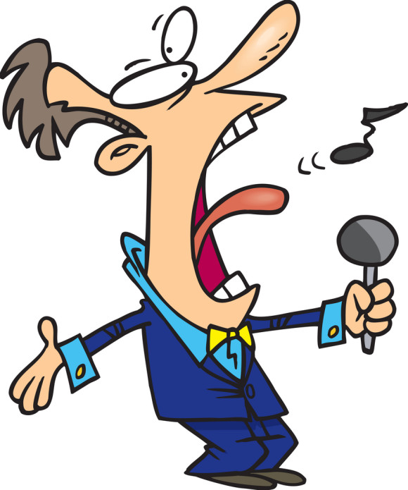 580x695 Singer Clipart Bad Singing