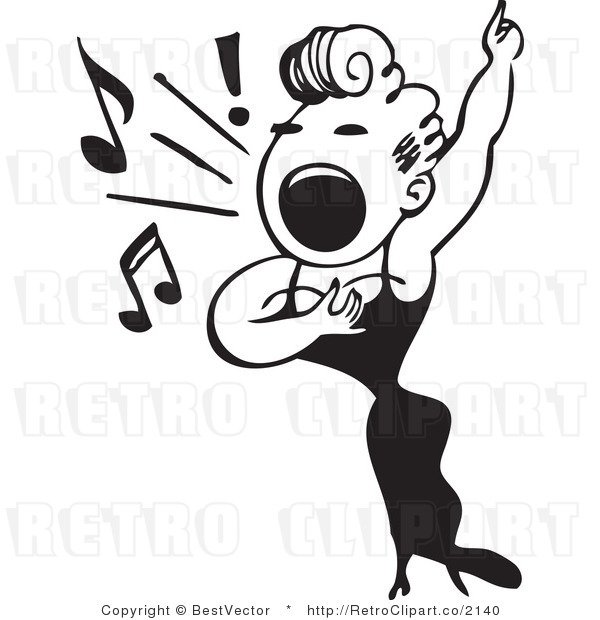 600x620 Sing Clipart Black And White Clipart Panda