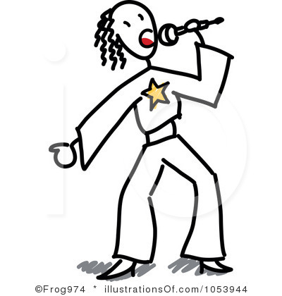 400x420 People Singing Clipart