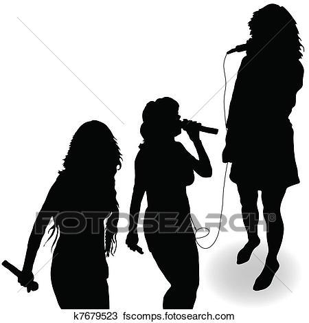 450x470 Clip Art Of Singer In Recording Studio K6966286