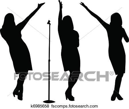 450x380 Clip Art Of Singers