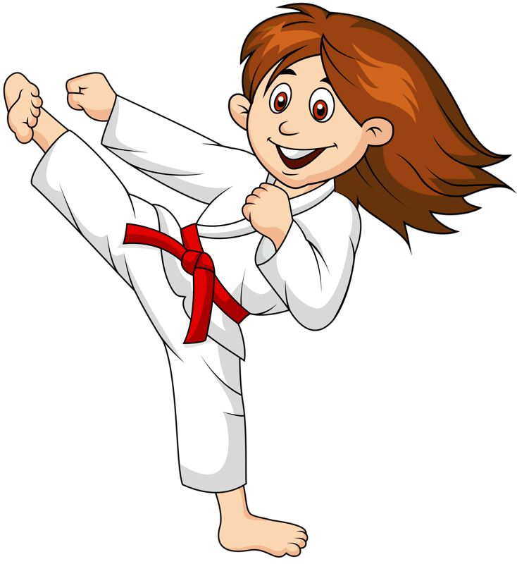 Karate Clipart Black And White