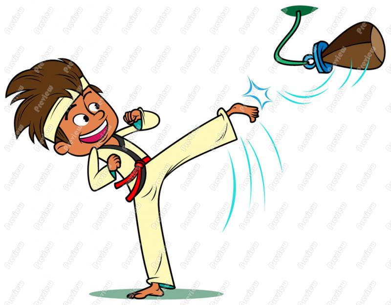 800x624 Karate Boy Child Clip Art