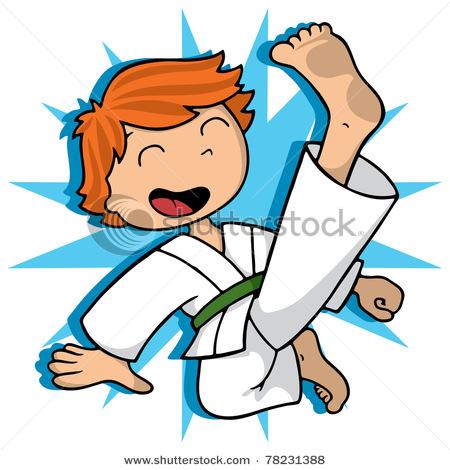 450x470 Boy Practicing And Exercising Flying Karate Kick
