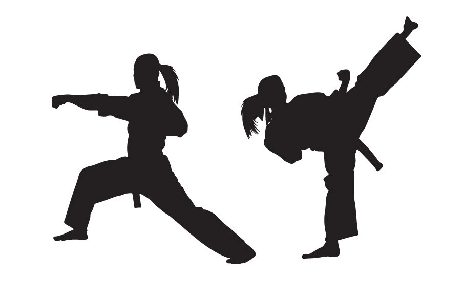 906x582 Karate Wall Decal Girl Version Sticker Kung Fu Martial