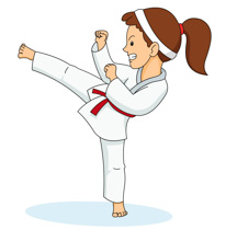 206x210 Free Sports Karate Clipart Clip Art Pictures Graphics