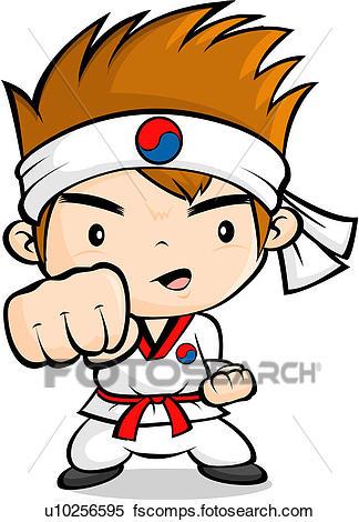 324x470 Stock Illustration Of Korean, Kid, Taekwondo Uniform, Martial Arts