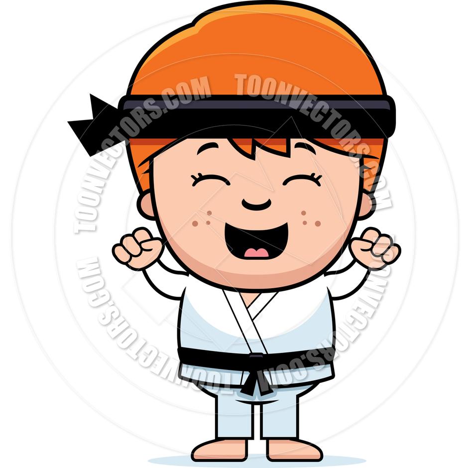 940x940 Cartoon Karate Boy Celebrating By Cory Thoman Toon Vectors Eps