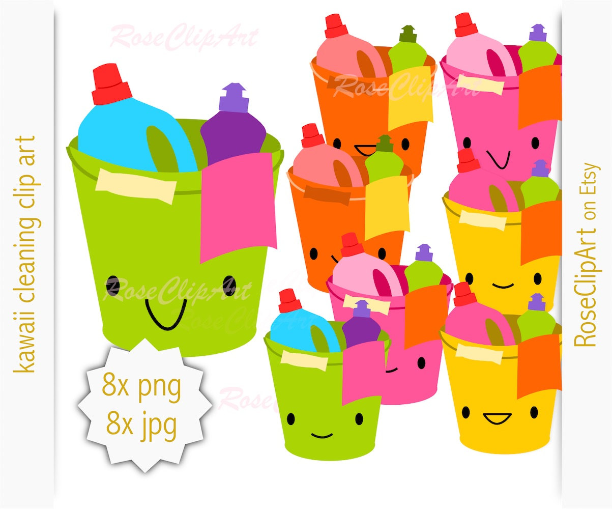1203x1000 8x Kawaii Cleaning Clipart