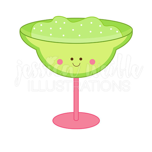 600x600 Kawaii Margarita Cute Digital Clipart Margarita Clip Art
