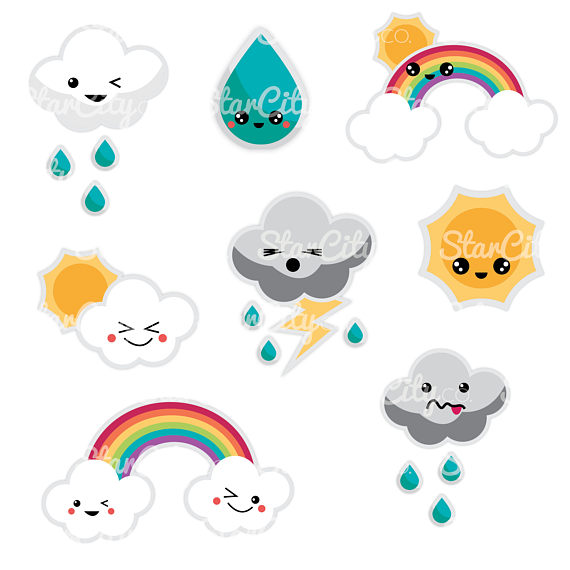 570x570 Kawaii Weather Clipart Cute Clip Art Kawaii Cloud Clipart