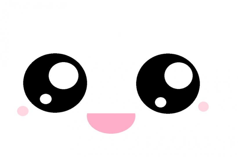 820x543 Kawaii Eyes Clipart Face
