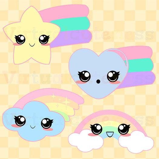 525x525 Pastel Rainbow Clipart