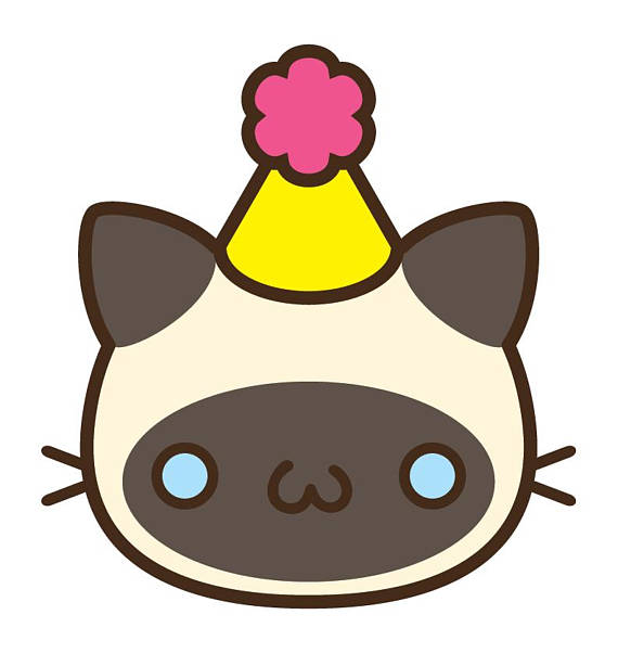 570x602 50% Off Cat Clipart Birthday Cat Clipart Kawaii Cat Clip