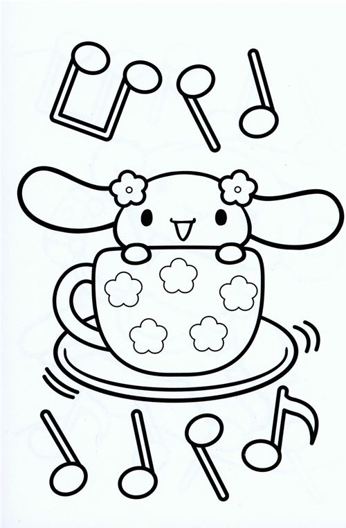 500x762 Coloring Pages Cute San X Coloring Pages For Adults Kawaii Anime