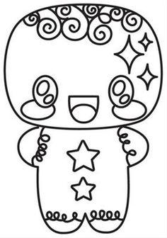 236x336 Kawaii Coloring Pages For Christmas