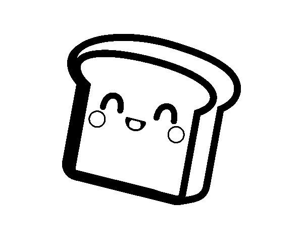 600x470 Kawaii Coloring Pages Bread