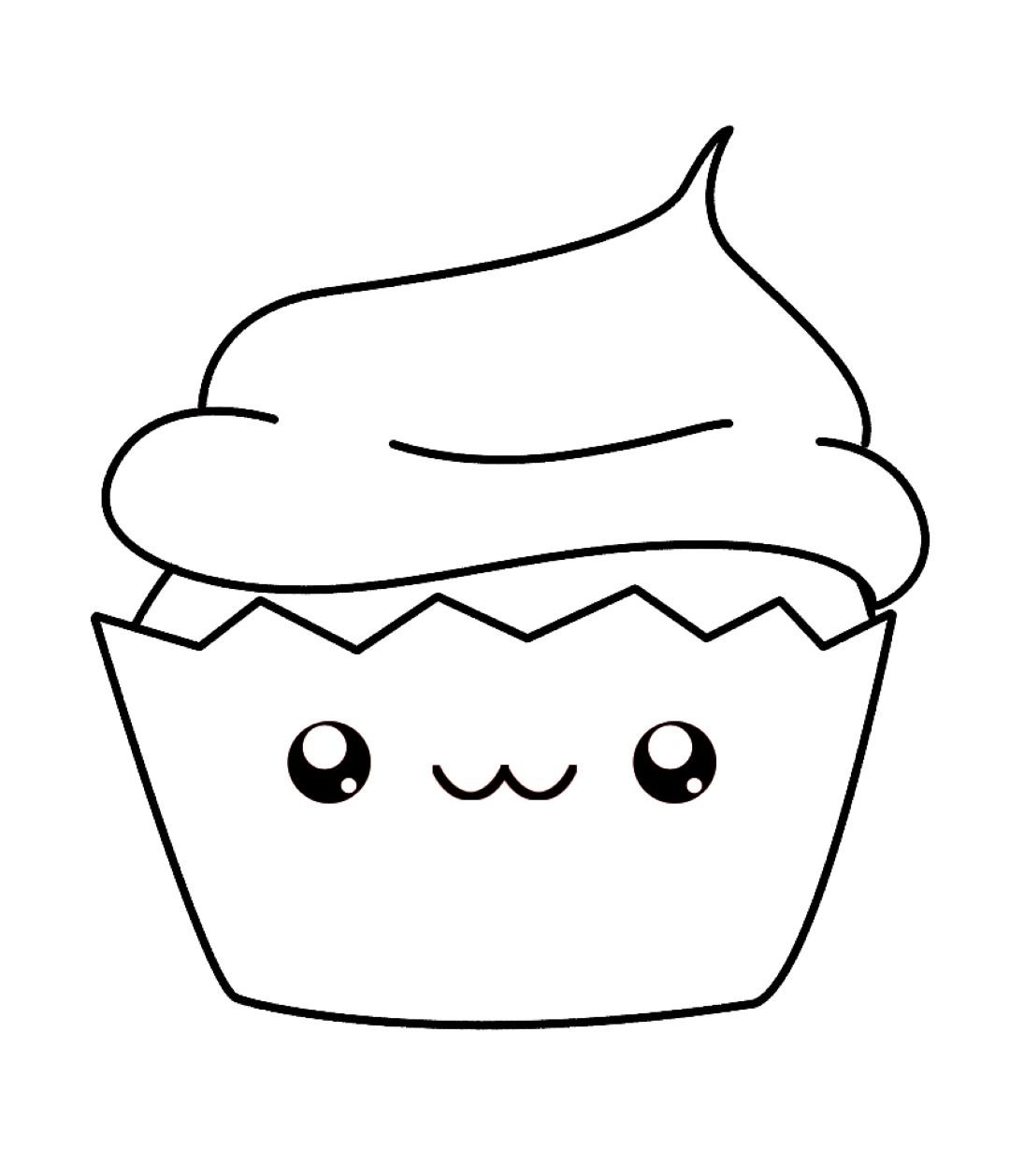 1080x1258 Kawaii Coloring Pages Cupcake