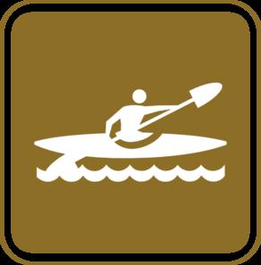 292x297 Kayak Tourist Sign Clip Art