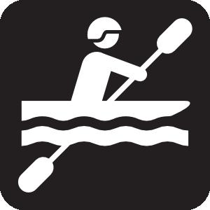 300x300 Kayaking Black Clip Art