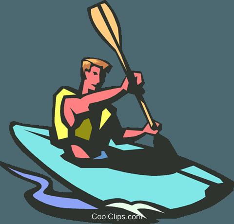 480x460 Kayaking Royalty Free Vector Clip Art Illustration Vc014787