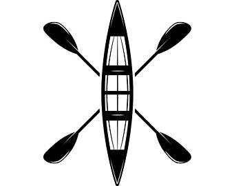 340x270 Canoe Raft Clip Art Etsy