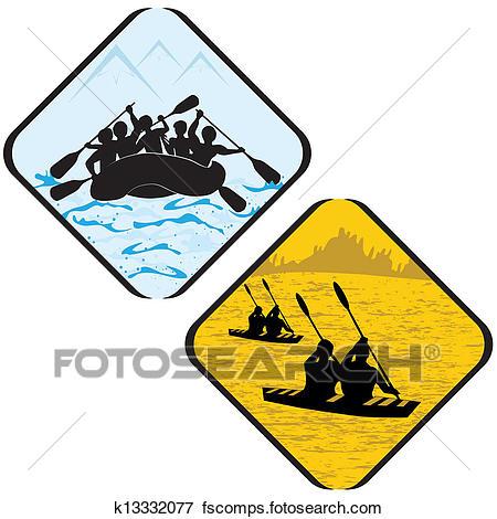 450x470 Clip Art Of Water Sea Sport Rowing Rafting Kayak Icon Symbol Sign